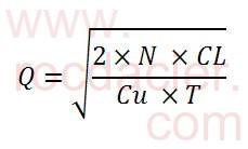 Formule de Wilson