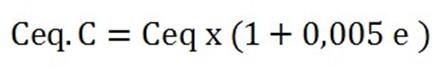 Formule Carbone equivalent compensé