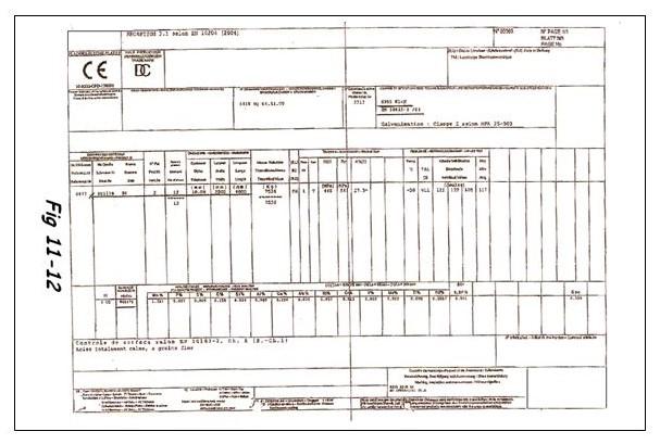 Exemple de CCPU ou certificat matière