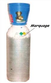 Bouteille de gaz pour chalumeau, oxygène