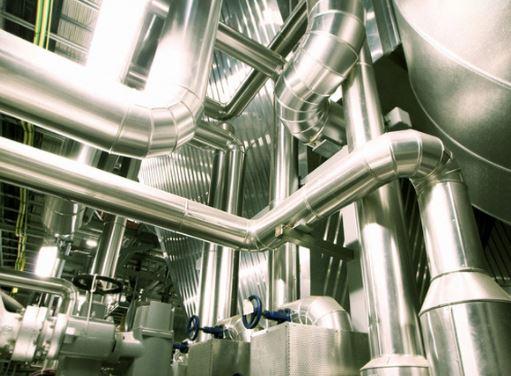 Exemple de tuyauterie industrielle INOX