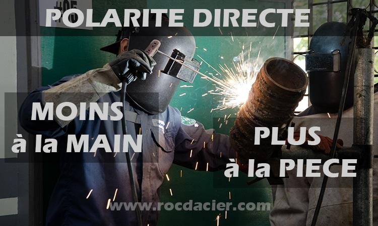 Polarité directe soudage
