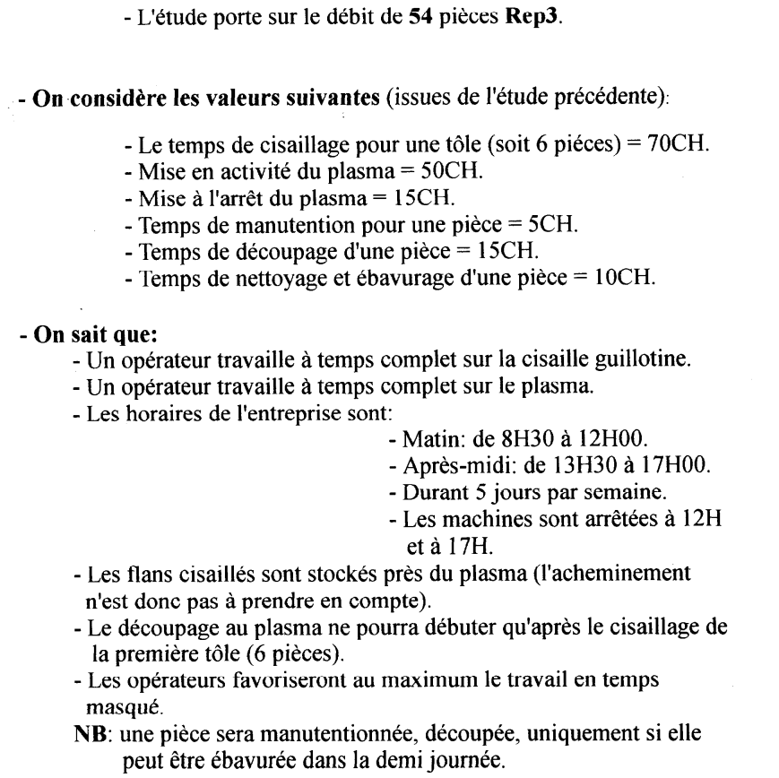 Sujet exercice plannings