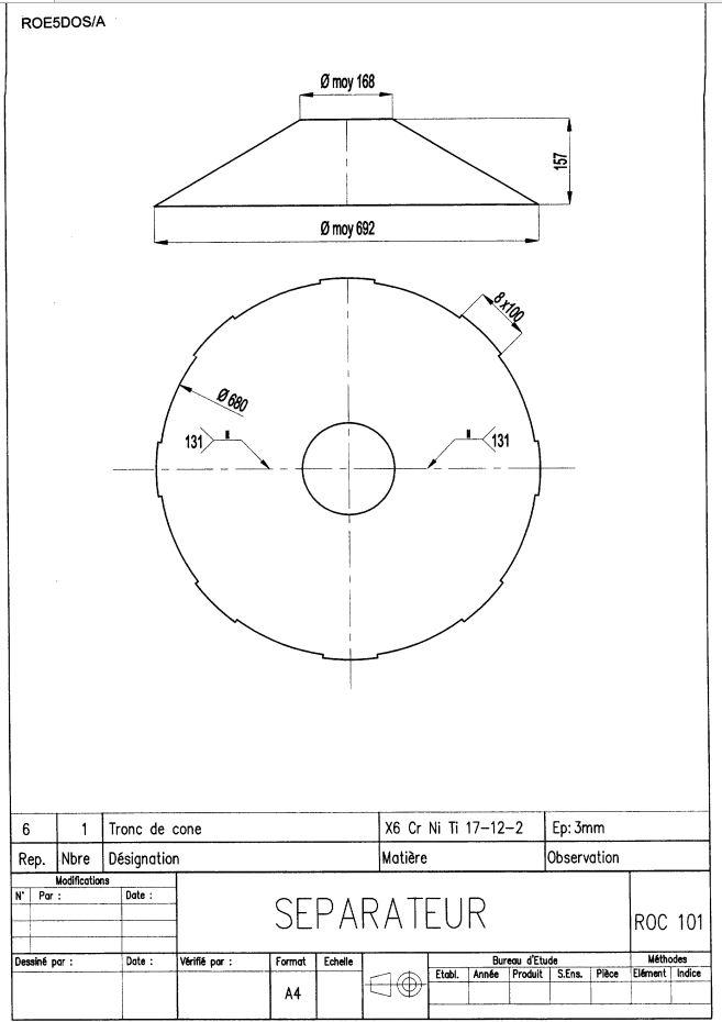 Plan du tronc de cône
