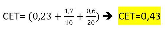 Calcul du carbone équivalent CET
