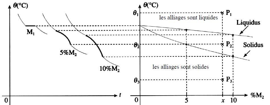 Construction des diagrammes de solidification