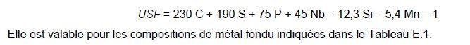 formule fissuration à chaud selon NF EN 1011-2