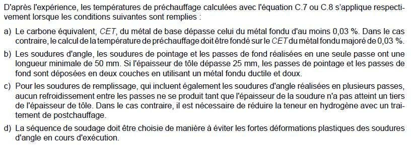 Paragraphe temperature prechauffage methode B