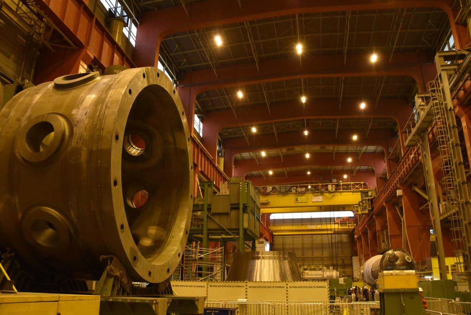 Vidéo Usine Framatome, production des générateurs de vapeur pour EPR